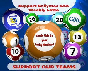 Ballymac GAA Lotto Results from Monday 6th May