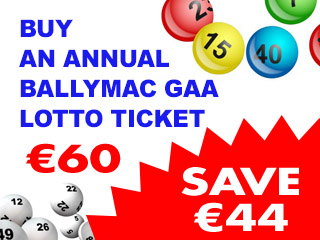 buy annual ticket Ballymac gaa lotto