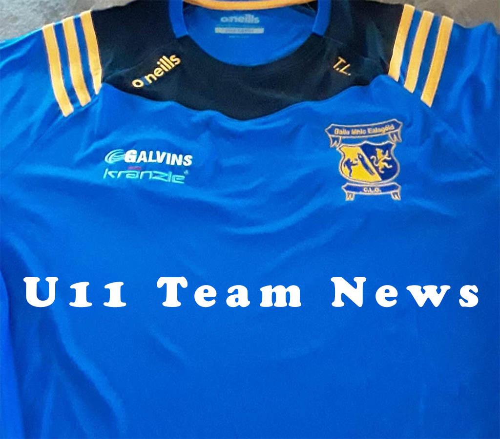 U11 team  Training Jerseys sponsored by GA Galvin & Co Ballymacelligott