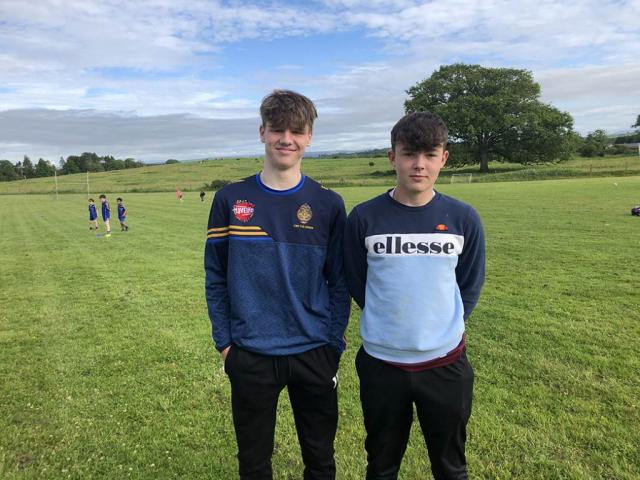 Ballymac U17 Referees Mossie  Brennan & Eoin Creedon